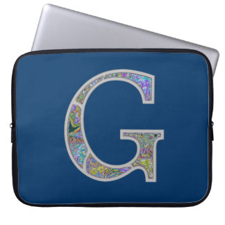 Gg Illuminated Monogram Laptop Sleeve
