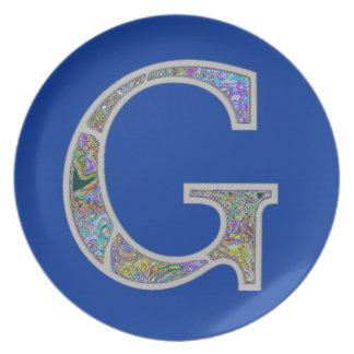 Gg Illuminated Monogram Plates