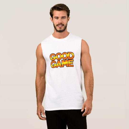 GG Men's Ultra Cotton Sleeveless T-Shirt, White Sleeveless