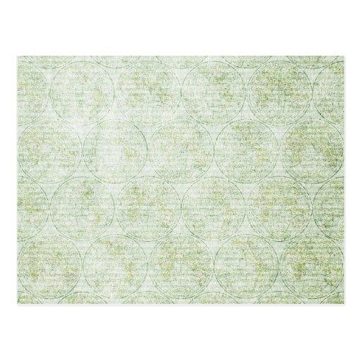 GGWG HISTORY VINTAGE GRUNGE GREEN WHITE GLOBES PAT POST CARDS
