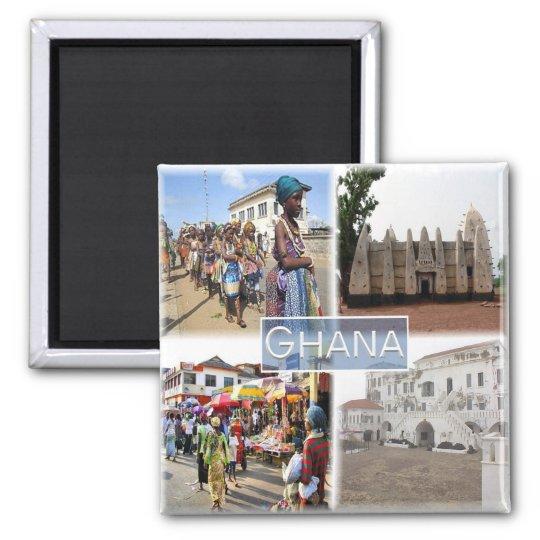 GH * Ghana Square Magnet