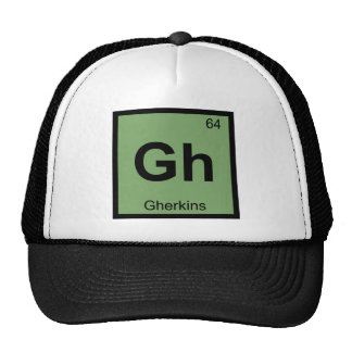 Gh - Gherkins Chemistry Periodic Table Symbol Cap