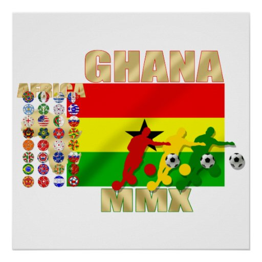 Ghana 32 country qualifying teams flag gifts poster