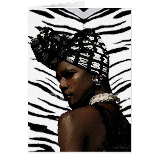 Ghana Black Beauty Greeting Card