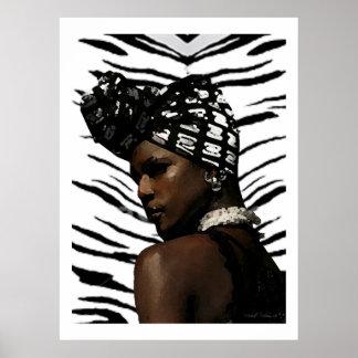 Ghana Black Beauty Print