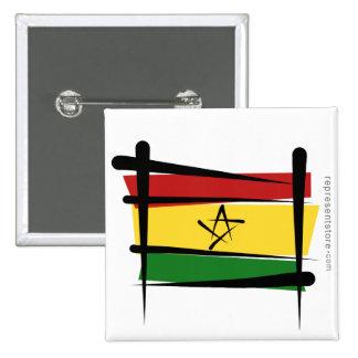 Ghana Brush Flag Pinback Buttons