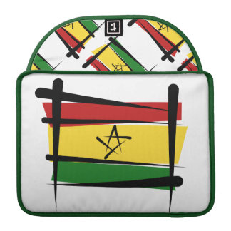 Ghana Brush Flag Sleeve For MacBook Pro