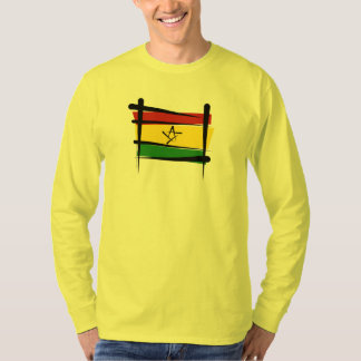 Ghana Brush Flag T-Shirt