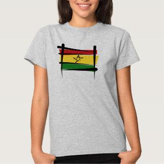 Ghana Brush Flag T-shirts