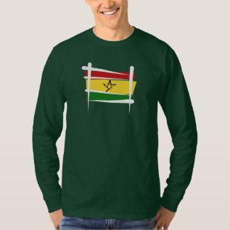 Ghana Brush Flag Tee Shirts