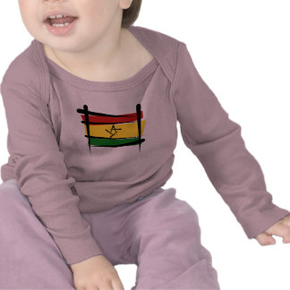 Ghana Brush Flag Tshirts