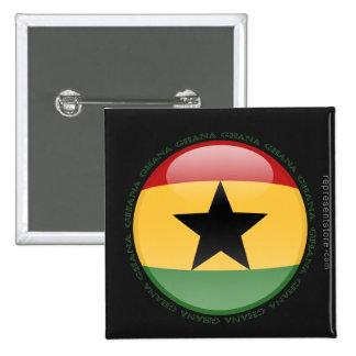 Ghana Bubble Flag Button