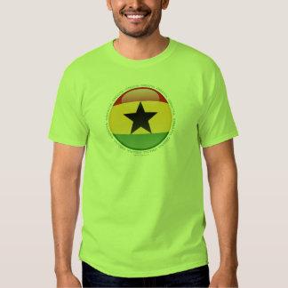 Ghana Bubble Flag Tee Shirt