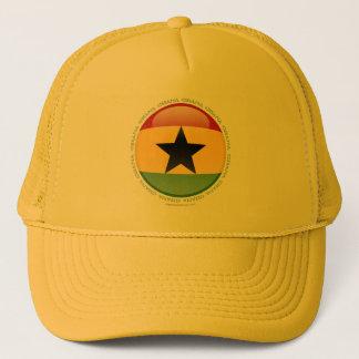 Ghana Bubble Flag Trucker Hat