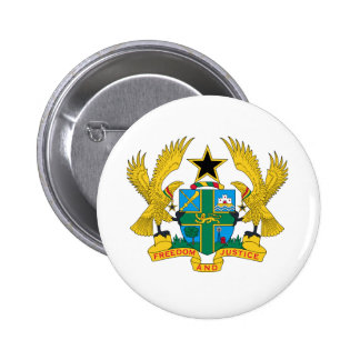 Ghana Coat of Arms Button