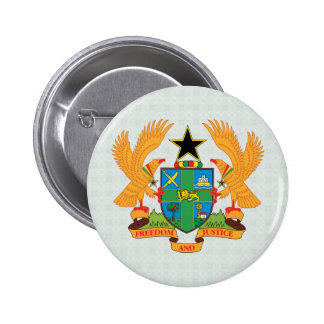 Ghana Coat of Arms detail Pinback Button