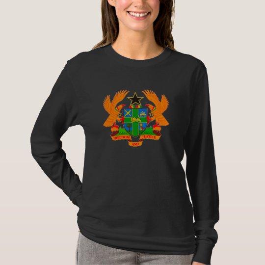Ghana Coat of Arms Ladies Long Sleeve T-Shirt