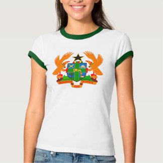 Ghana Coat of Arms Ladies Ringer Tshirt