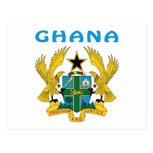 Ghana Coat Of Arms Postcards