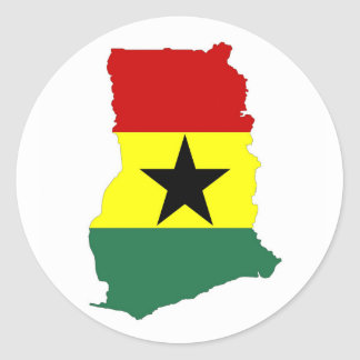 ghana country flag map shape silhouette symbol classic round sticker