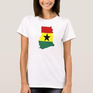 ghana country flag map shape silhouette symbol T-Shirt