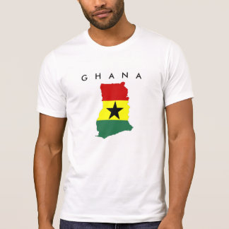 ghana country flag map shape silhouette symbol T-Shirt