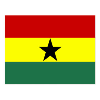 Ghana country long flag nation symbol republic postcard