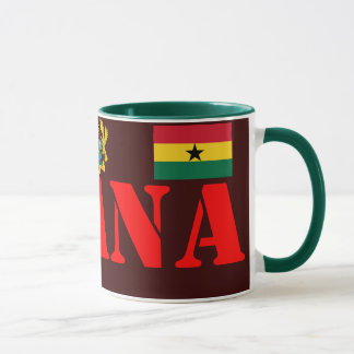 GHANA* Crest and Flag Coffee Mug