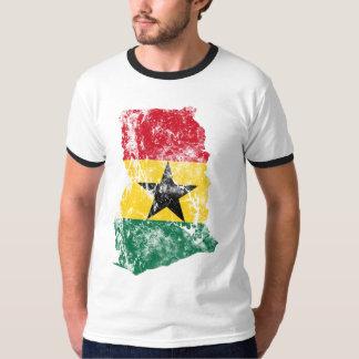 Ghana Distressed Flag T Shirt