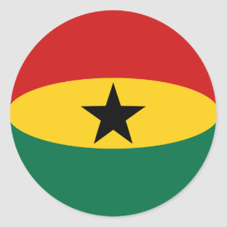 Ghana Fisheye Flag Sticker