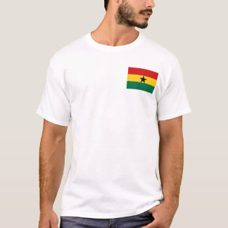 Ghana Flag and Map T-Shirt