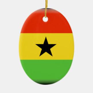 Ghana Flag Ceramic Oval Decoration
