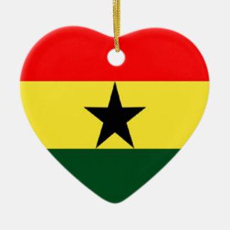 Ghana flag christmas ornament