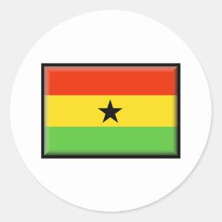 Ghana Flag Classic Round Sticker