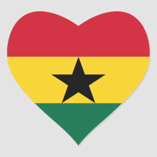 Ghana Flag GH Heart Sticker