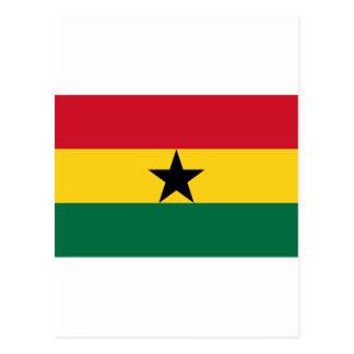 Ghana Flag GH Postcard