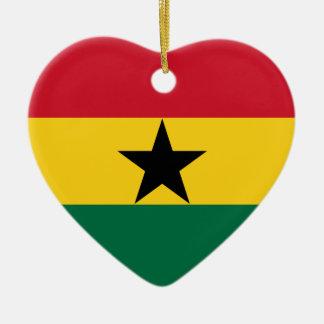 Ghana Flag Heart Ornament