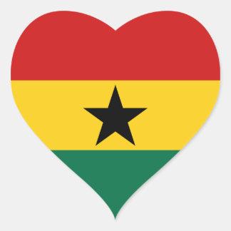 Ghana Flag Heart Sticker