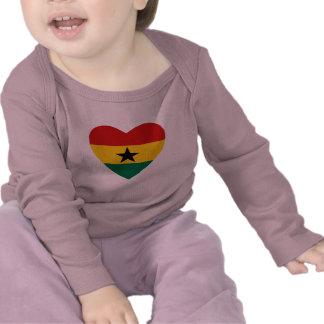Ghana Flag Heart T-Shirt