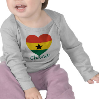 Ghana Flag Heart Shirts