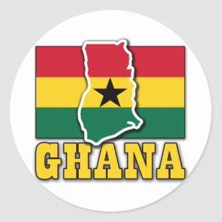Ghana Flag Land Classic Round Sticker