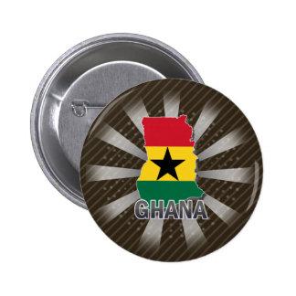 Ghana Flag Map 2.0 Pinback Buttons