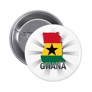 Ghana Flag Map 2.0 Button