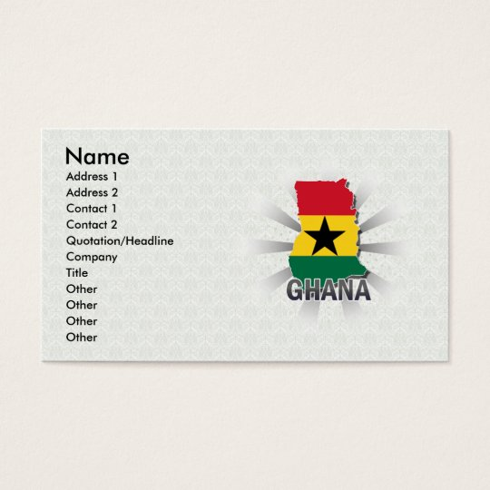 Ghana Flag Map 2.0 Business Card