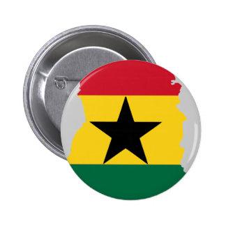Ghana flag map pin