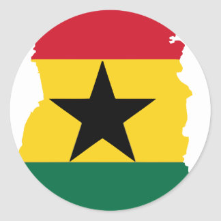 Ghana flag map classic round sticker