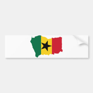 Ghana Flag Map GH Bumper Sticker