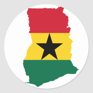 Ghana Flag Map GH Classic Round Sticker