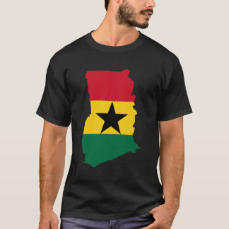 Ghana Flag Map T-Shirt
