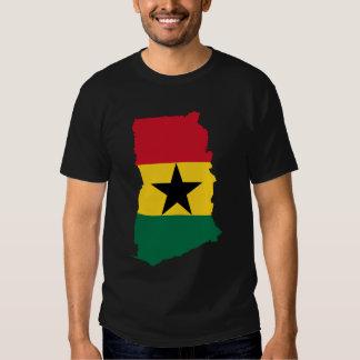 Ghana Flag Map Tshirt